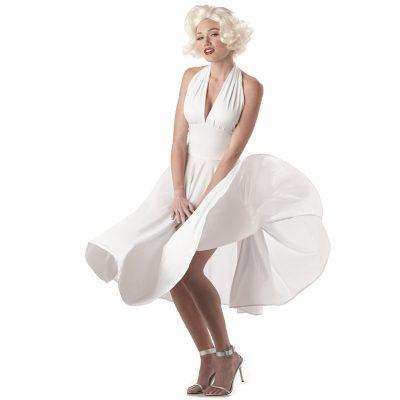 Marilyn Monroe Adult White Halter Dress Costume
