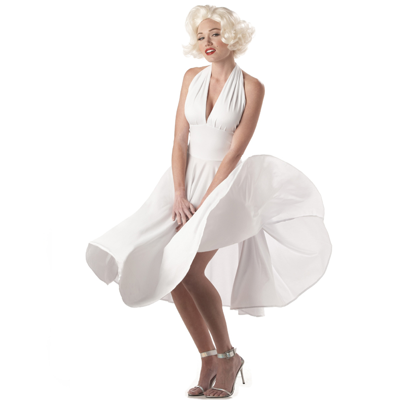 Marilyn Monroe Adult White Halter Dress Costume