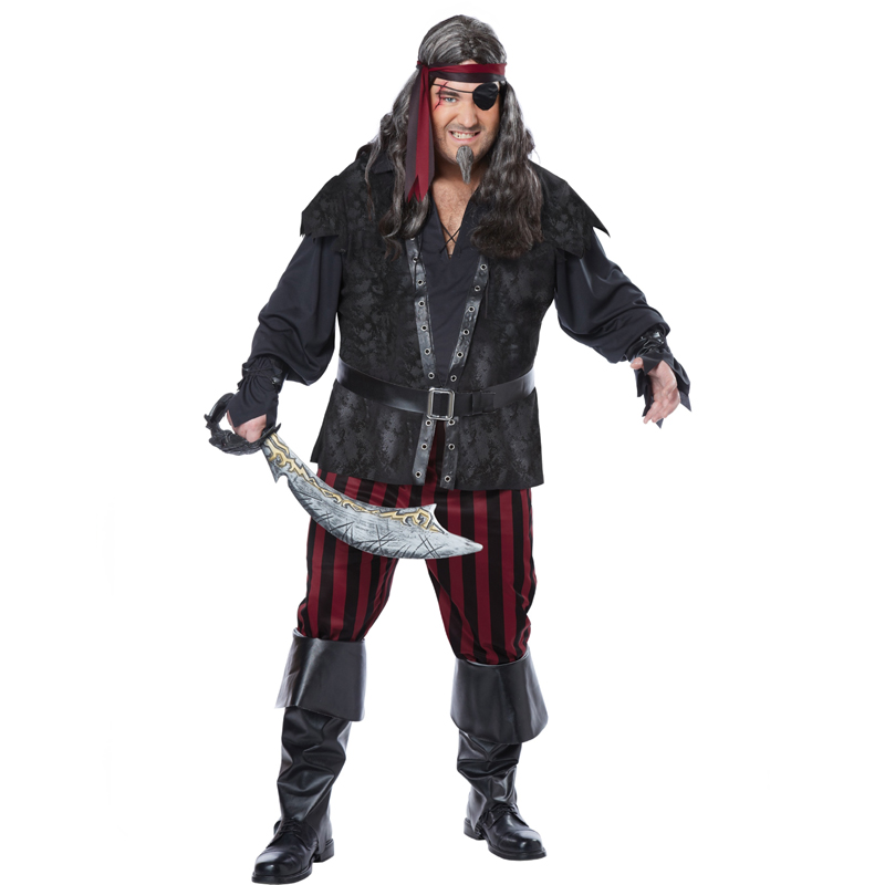 Ruthless Rogue Adult Pirate Plus Size Costume