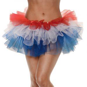 Adult Patriotic Tutu Red White Blue