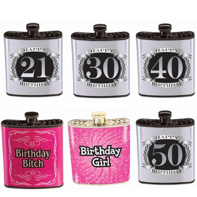 Novelty Plastic Drinking Birthday Flask