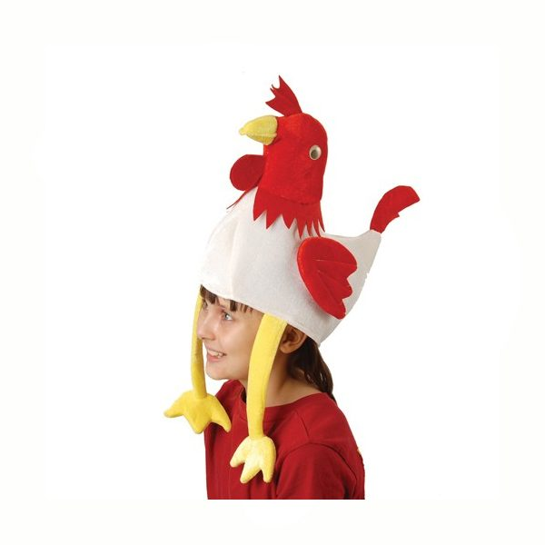 Rooster Hat has Long Legs