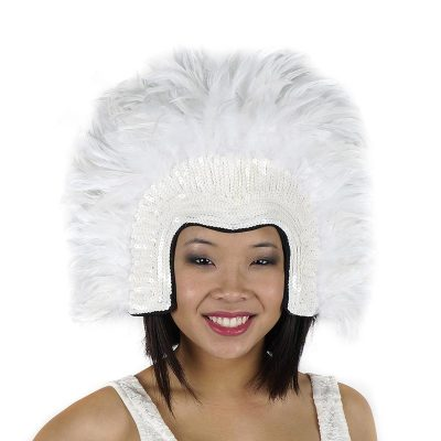 Showgirl Feather Headdress White