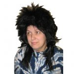 Kenar Long Black Shag Wig