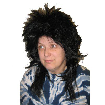 Kenar Long Black Shag Wig