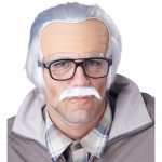Rude Grandpa Old Man Wig Mustache