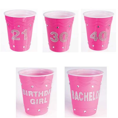 "Pink Birthday ""Solo"" Cups"