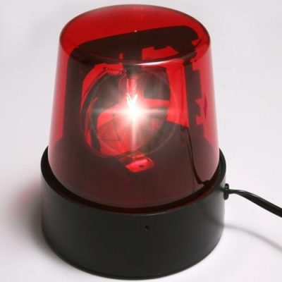 Electric Rotating Red Beacon Police Light