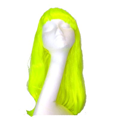 Promo Neon Yellow Electric Diva Wig