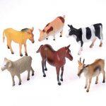5 inch - 6 inch rubber farm animal toys