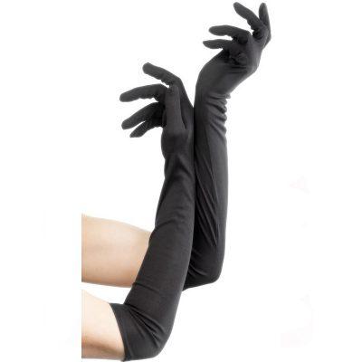Long Gloves Elbow Length Black
