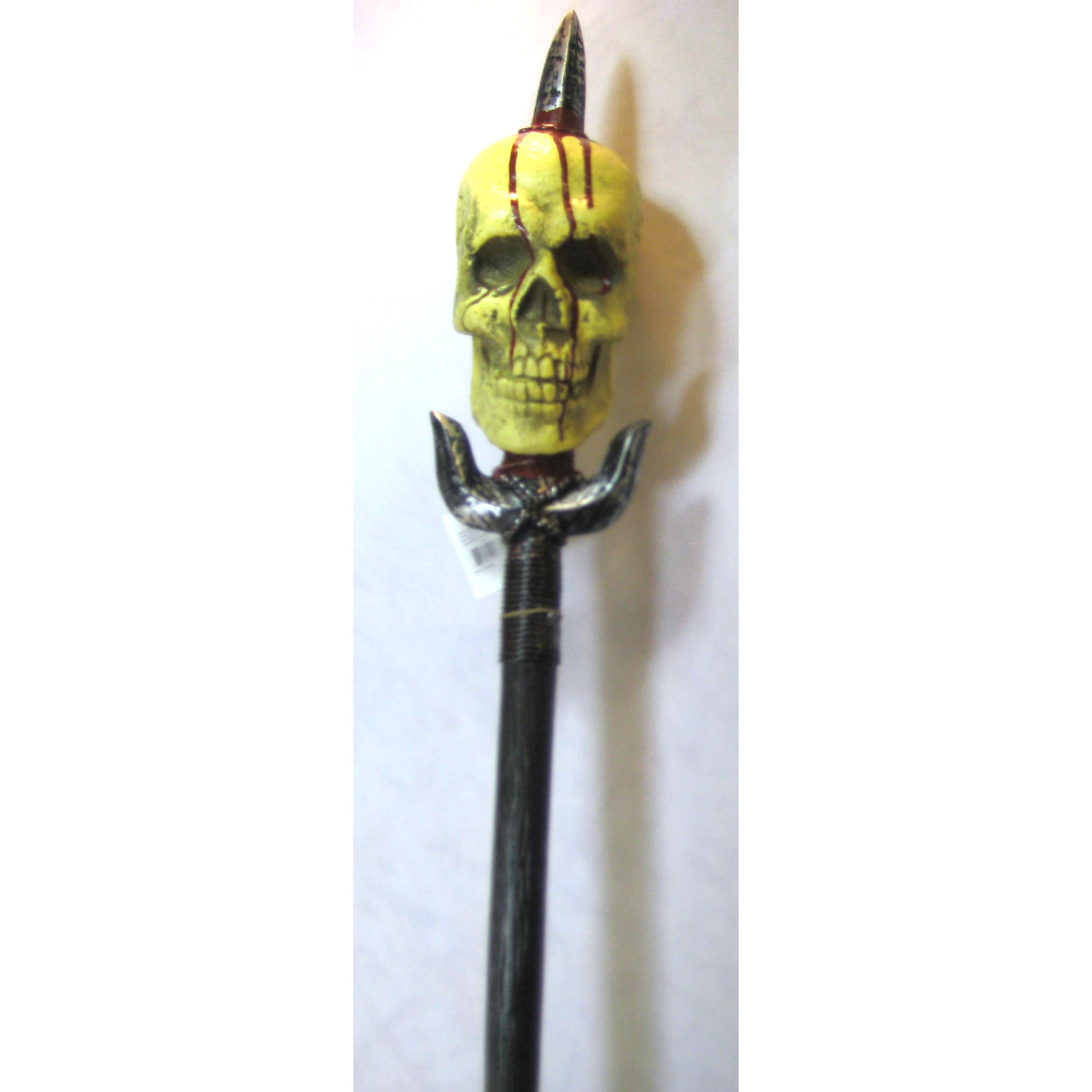 """5'6"""" Plastic Bloody Skull Spear"""