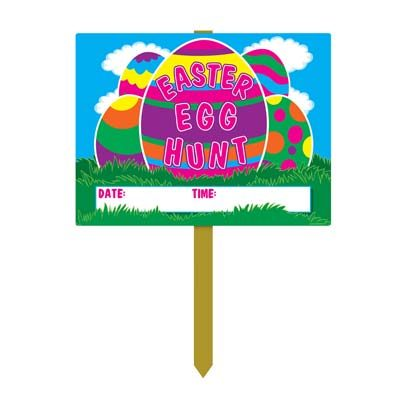 Plastic Easter Egg Hunt Yard Sign