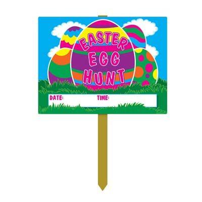 Plastic Easter Egg Hunt Yard Sign