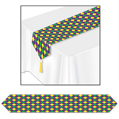 Printed Mardi Gras Table Runner