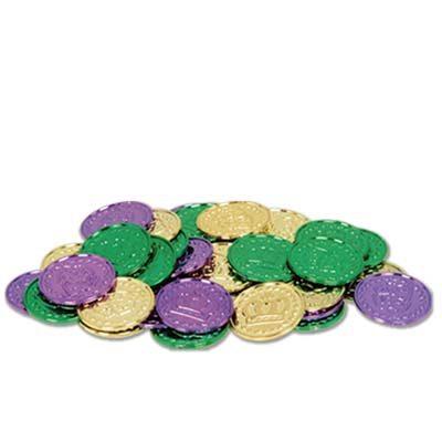 Mardi Gras coins- plastic.