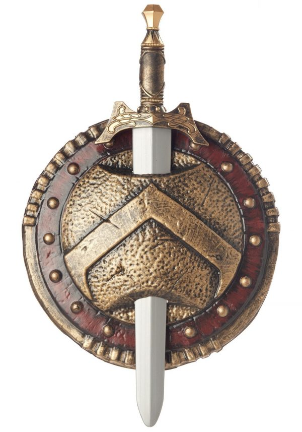 Costume Plastic Spartan Shield Sword Set