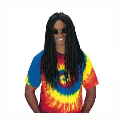 Long Black Costume Rasta Wig