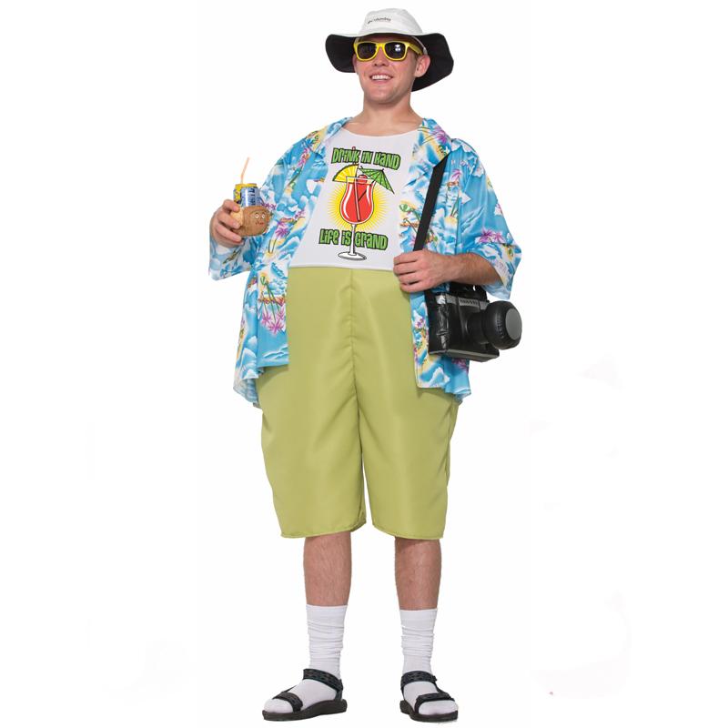 22b816045 Tropical Tourist Adult Costume - Cappel's Hawaiian Shirt n Shorts
