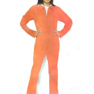 Lady Prisoner Orange Jumpsuit