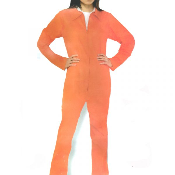 Lady Prisoner Orange Jumpsuit