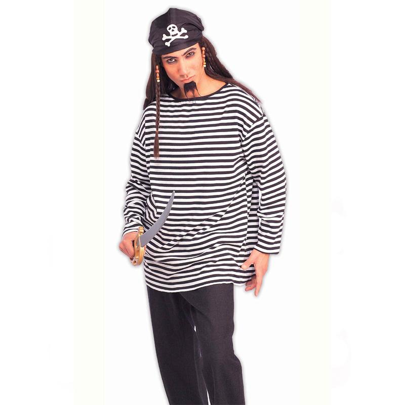 Buccaneer Shirt Adult Black White Stripe