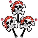 Pirate Skull Paddle Ball Game