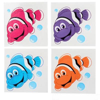 Small Clown Fish Temporary Tattoos 12 Pieces