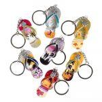 Deluxe Tropical Design Flip Flop Keychain