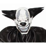 Evil Clown Black White Full head Mask