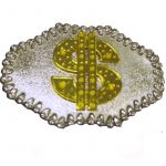 Belt Buckle Dollar Sign