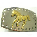 Belt Buckle Running Horse