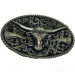 Belt Buckle Western Bull