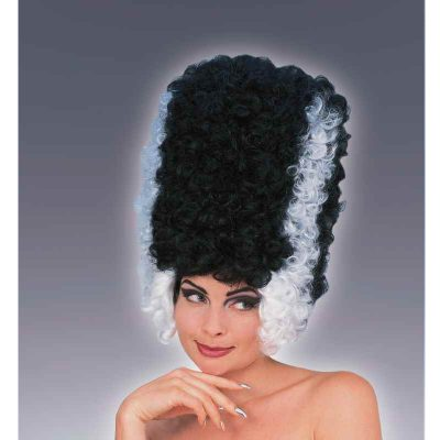 Monster Bride Wig Black Wig White streaks