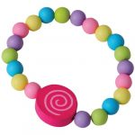 Party Wooden Candy Elastic Bead Bracelets