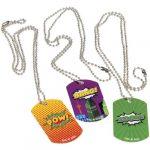 Metal Super Hero Dog Tag Necklace