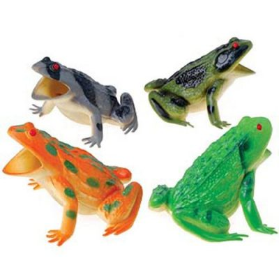 4 inch Rubber Exotic Squeaking Frog