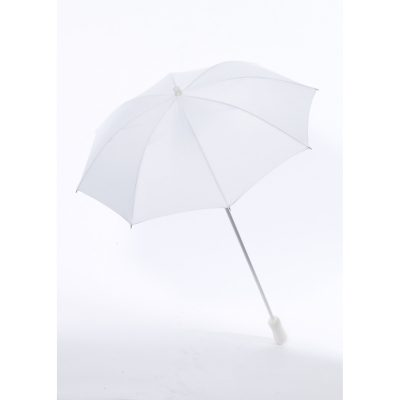 35 inch Costume Long Handle White Parasol