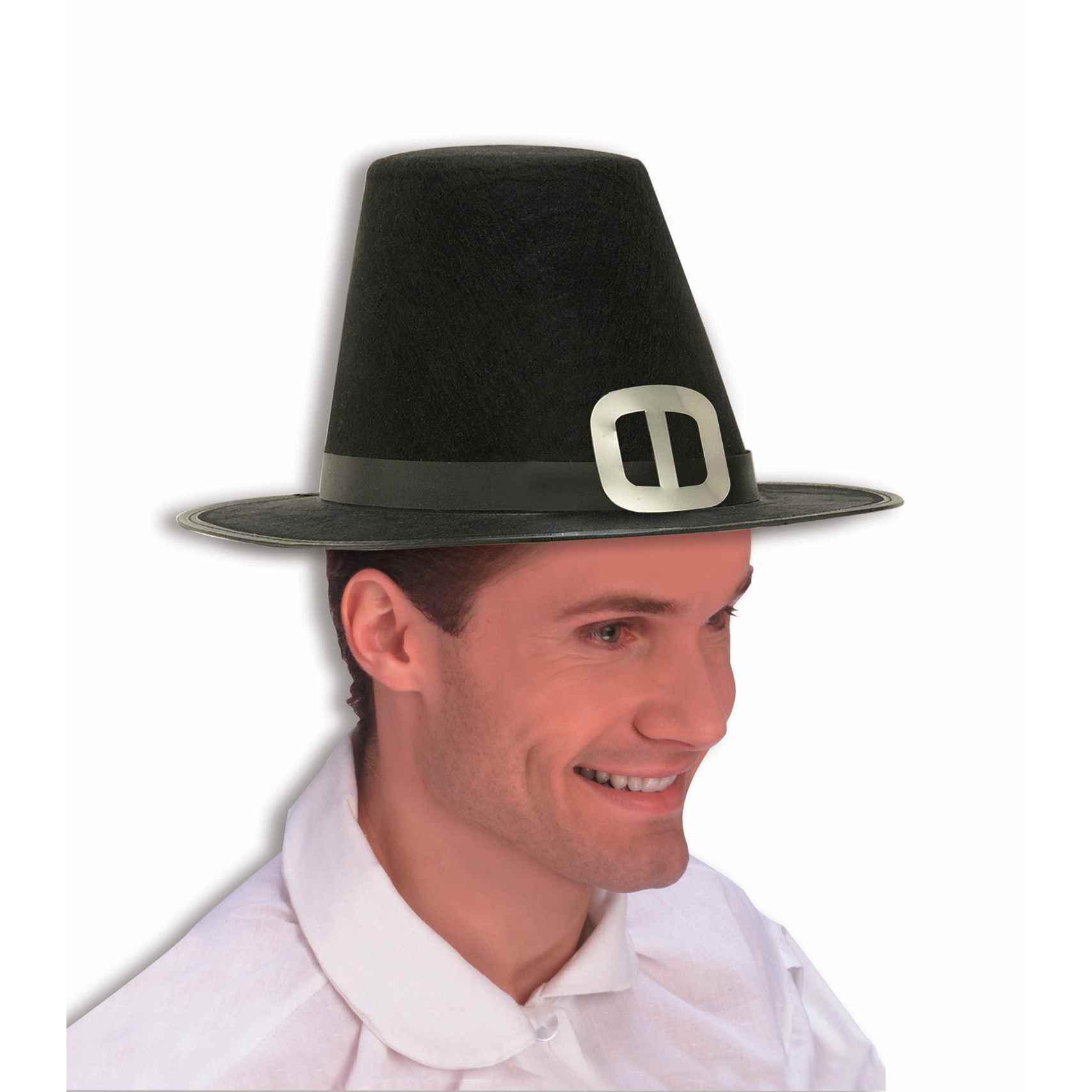 Pilgrim Hat Black Heavy Felt Adult Size