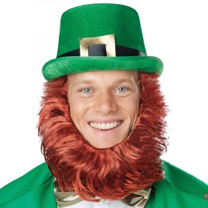 Costume Leprechaun Hat Beard Getup