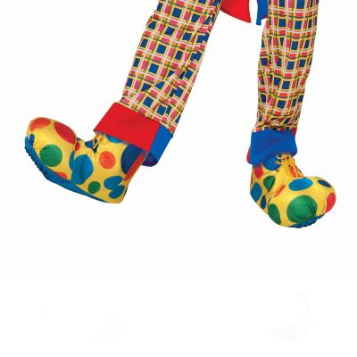 Polka Dot Clown Shoe Covers