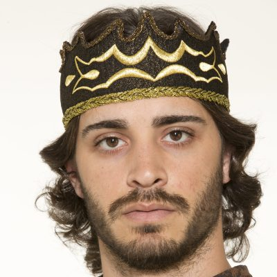 Fabric Medieval Kings Crown Costume Accessory