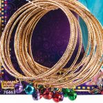 Gold Bangle Bracelets Bells 18 Package