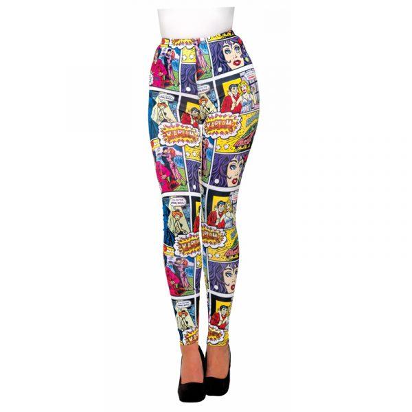 Nylon Pop Art Comic Leggings