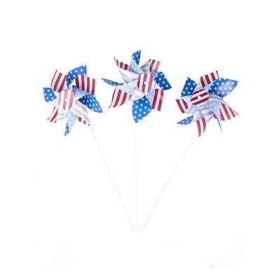 6 inch Patriotic Stars Stripes Pinwheel
