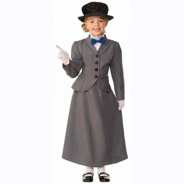 English nanny kids costume