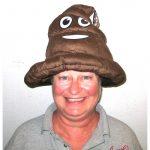 Brown Plush Emoji Poop Hat