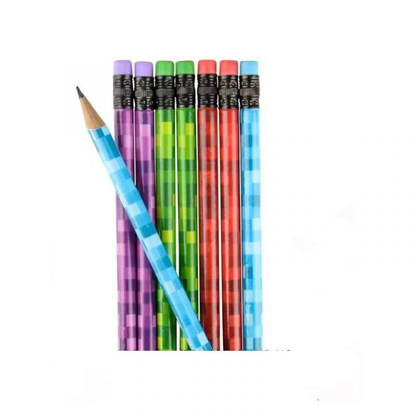 Pixel print pencils 12 pack