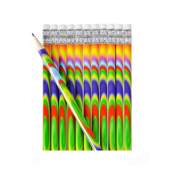 Psychedelic print pencils 12 pack