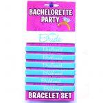Bachelorette Bride Bridesmaid Rubber Bracelet Set
